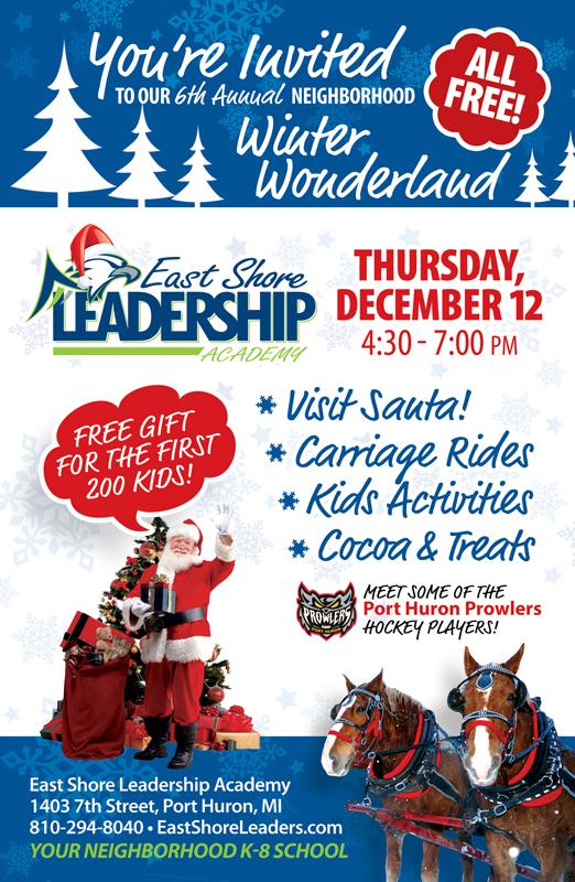 East Shore Leadership Academy Winter Wonderland Flyer