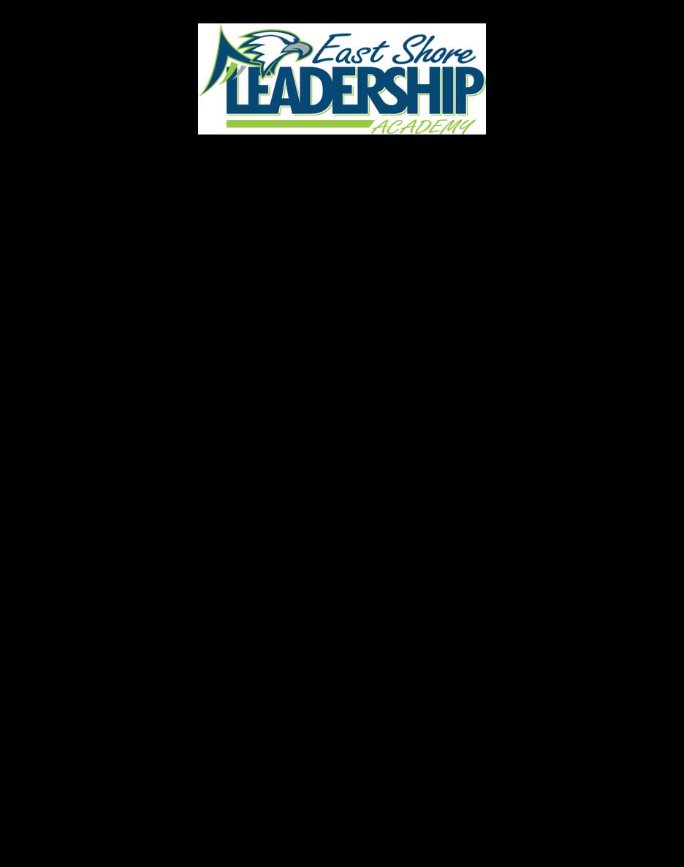 East Shore Leadership Academy 2021-2022 Calendar